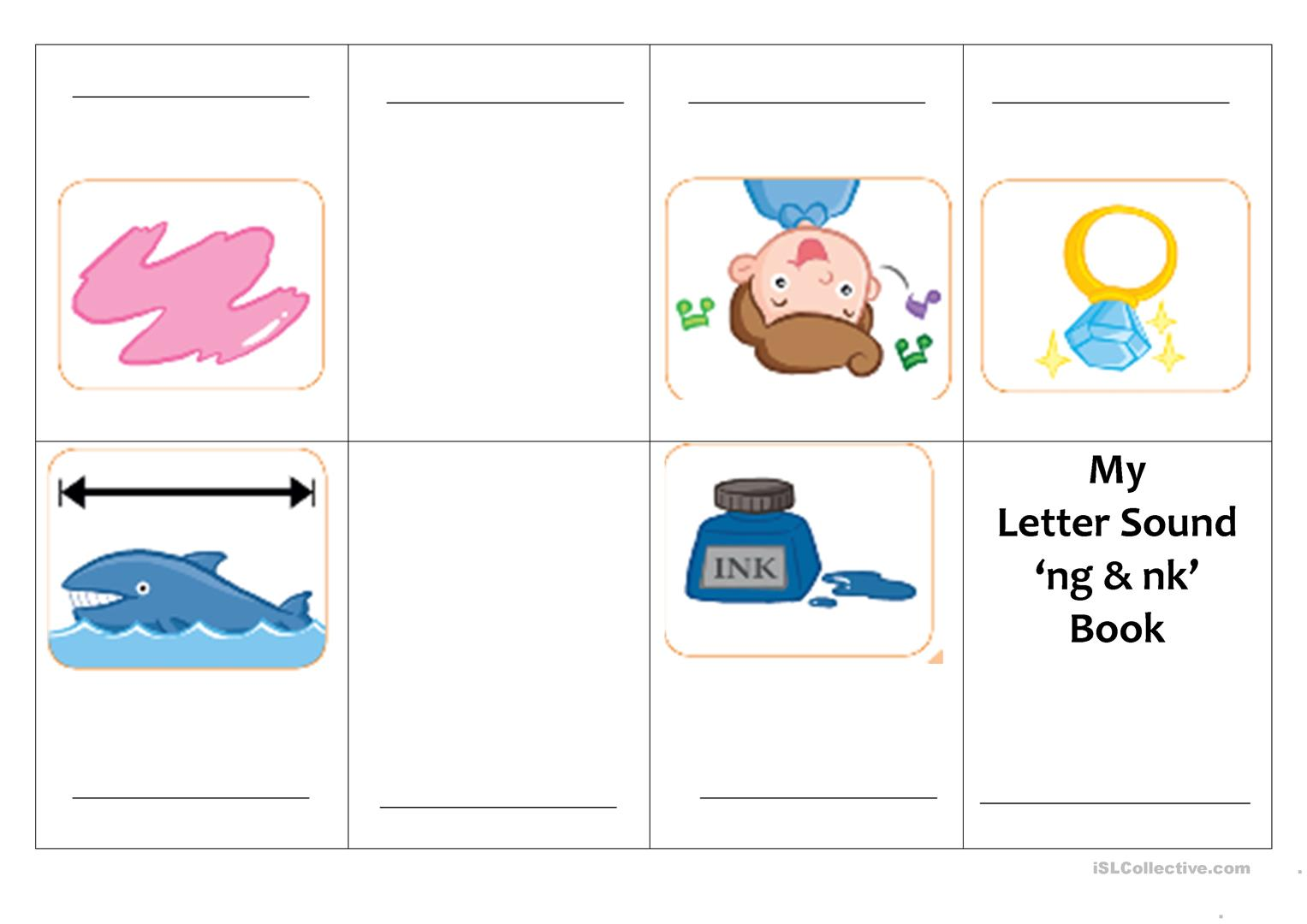 Mini Book Letter Sound Of Ng Amp Nk Worksheet