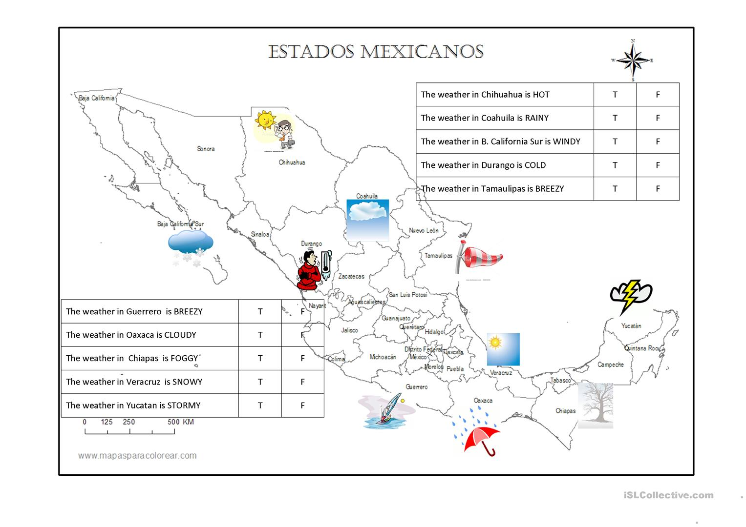 Inspirational Mexico Map Worksheet