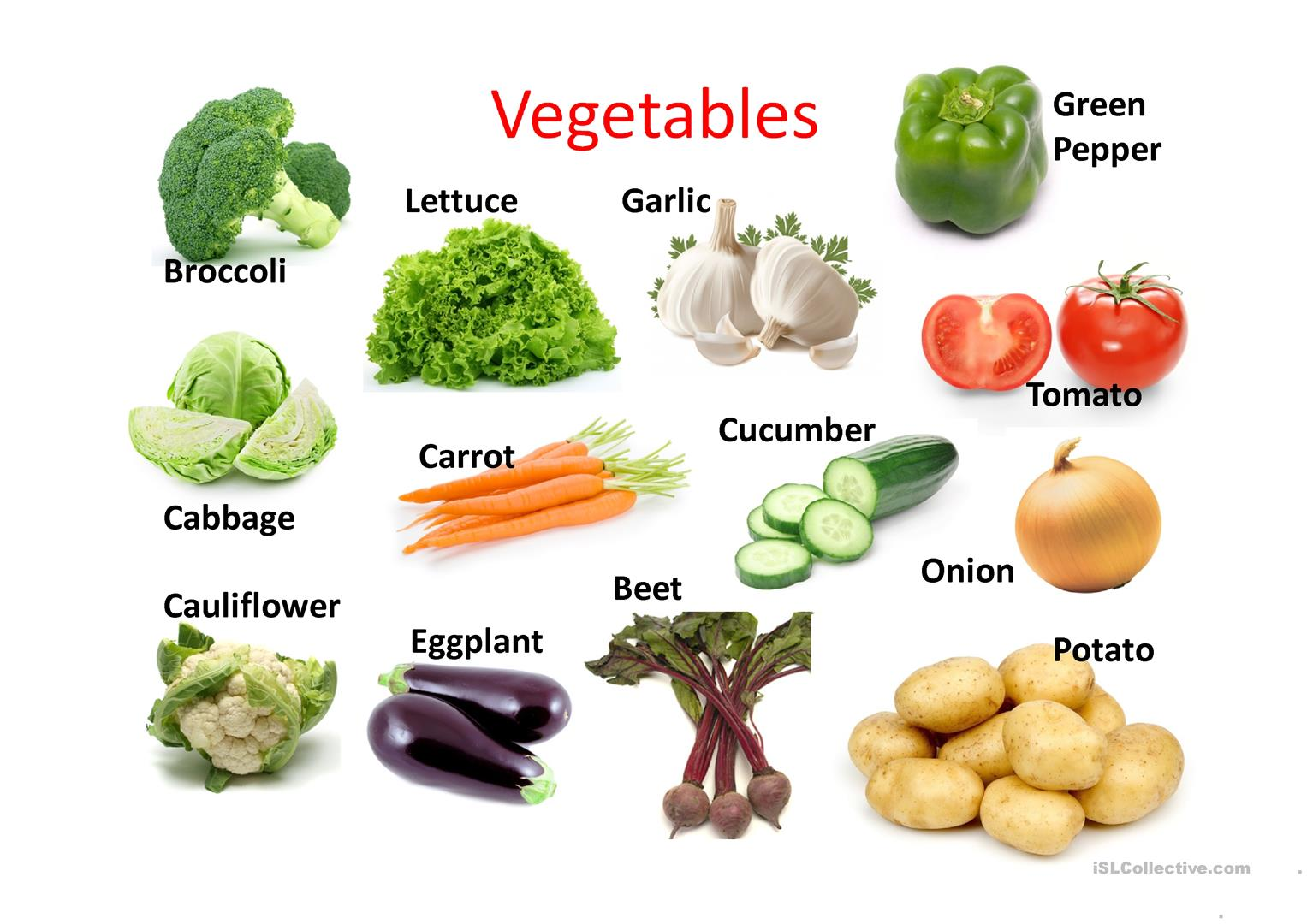 Free Worksheet On Vegetables