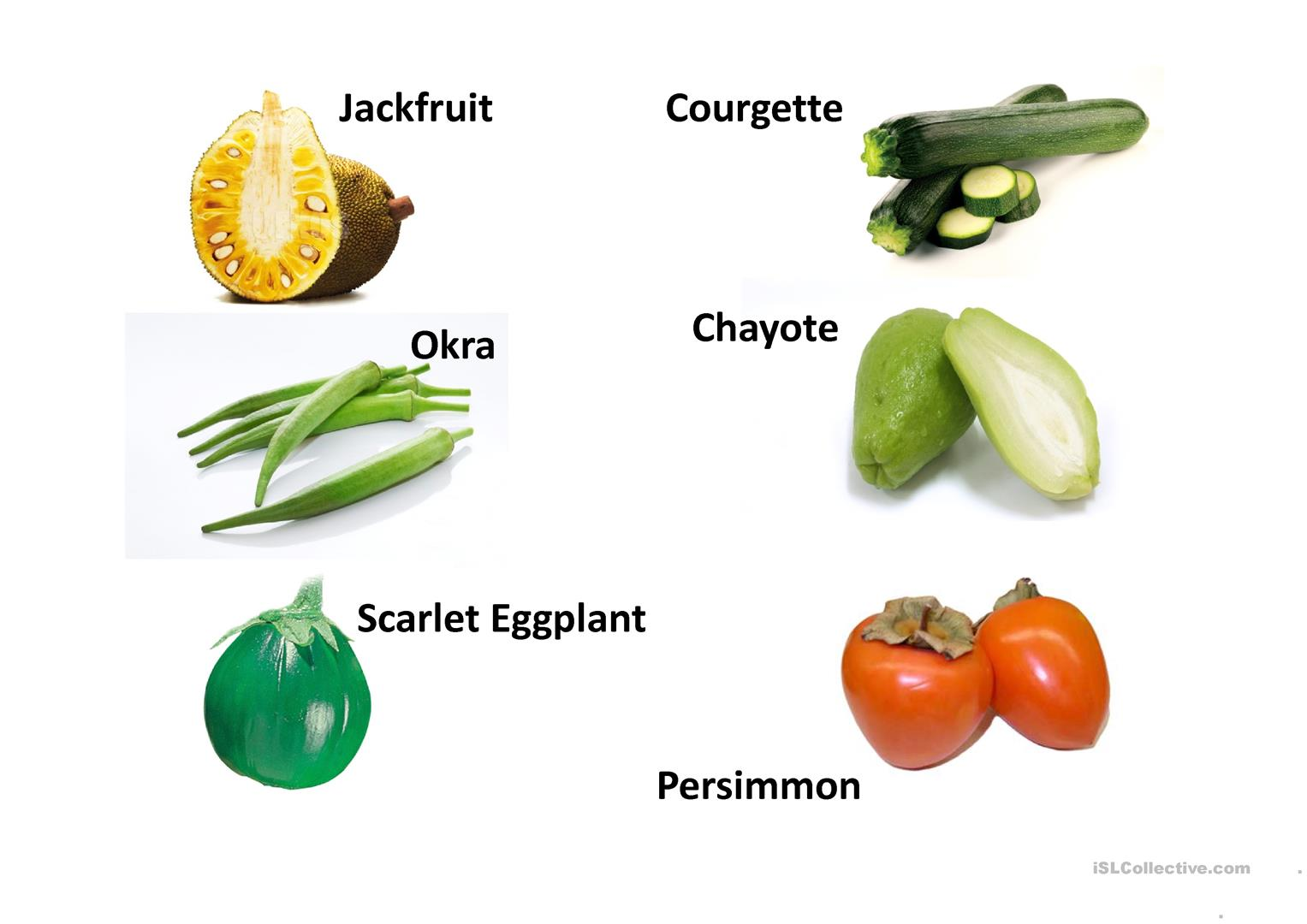 Fruits And Vegetables Presentation Worksheet