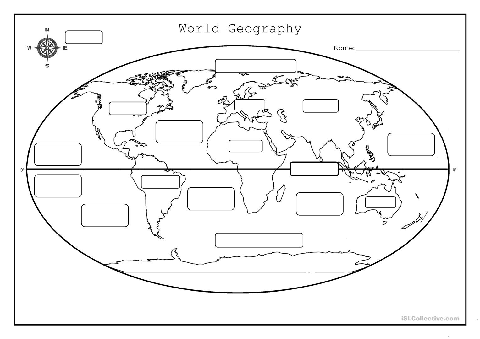 World Geography Worksheet