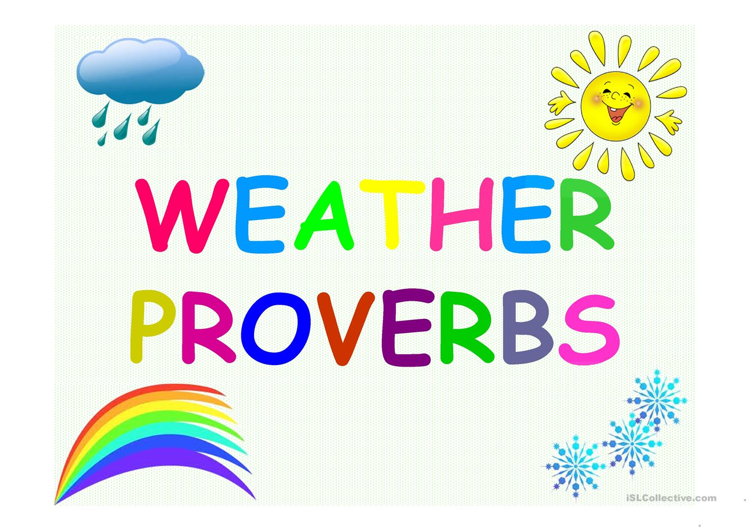 Proverbs About Weather Worksheet
