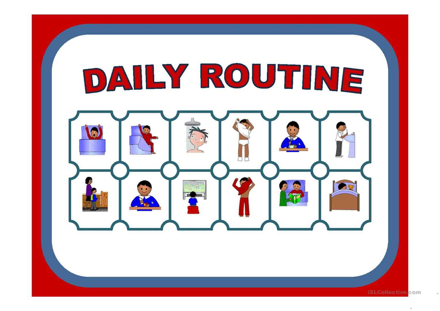 My Daily Routine Worksheet