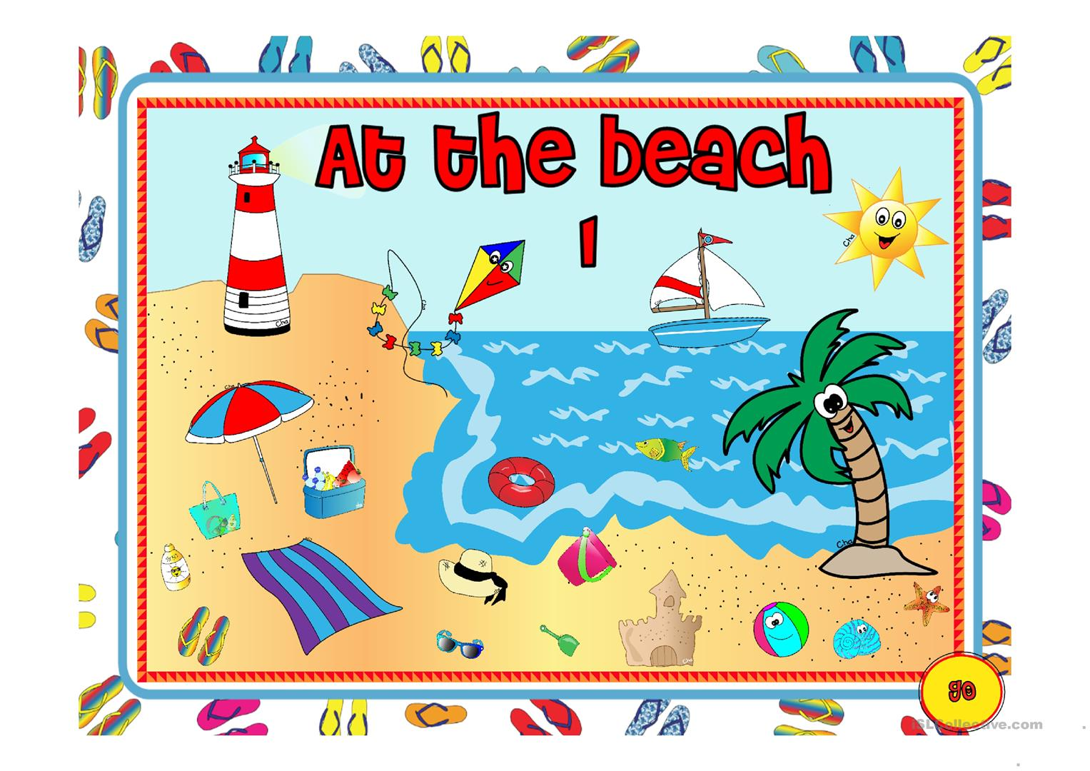 At The Beach 1 3 Worksheet