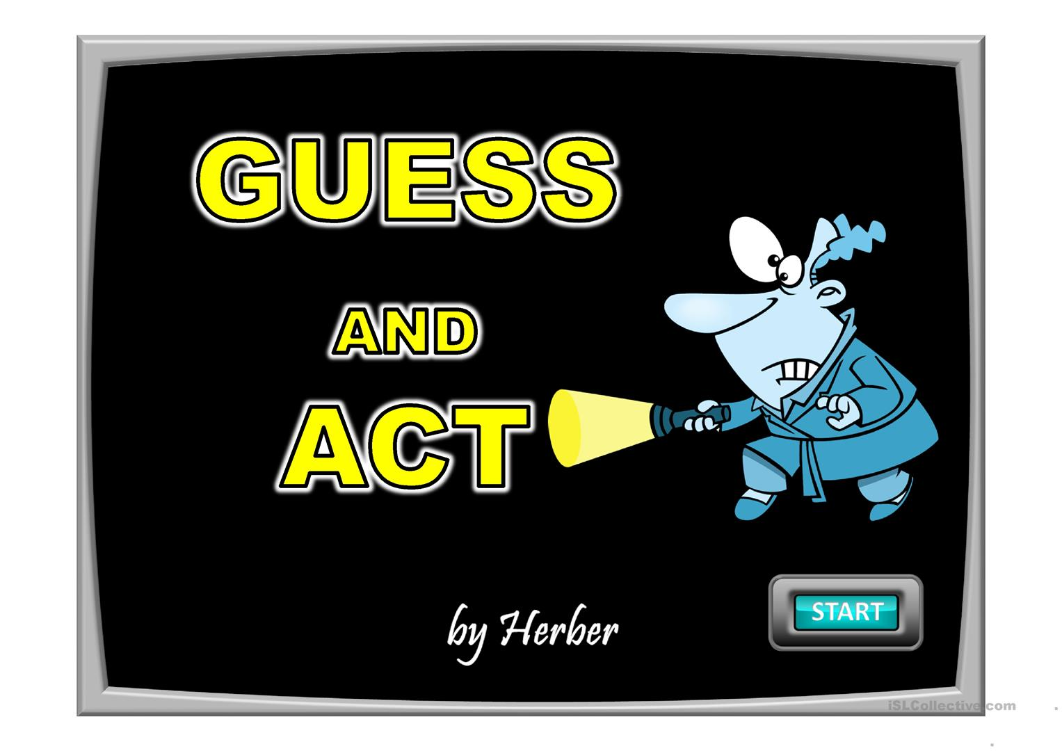 Guess And Act Worksheet