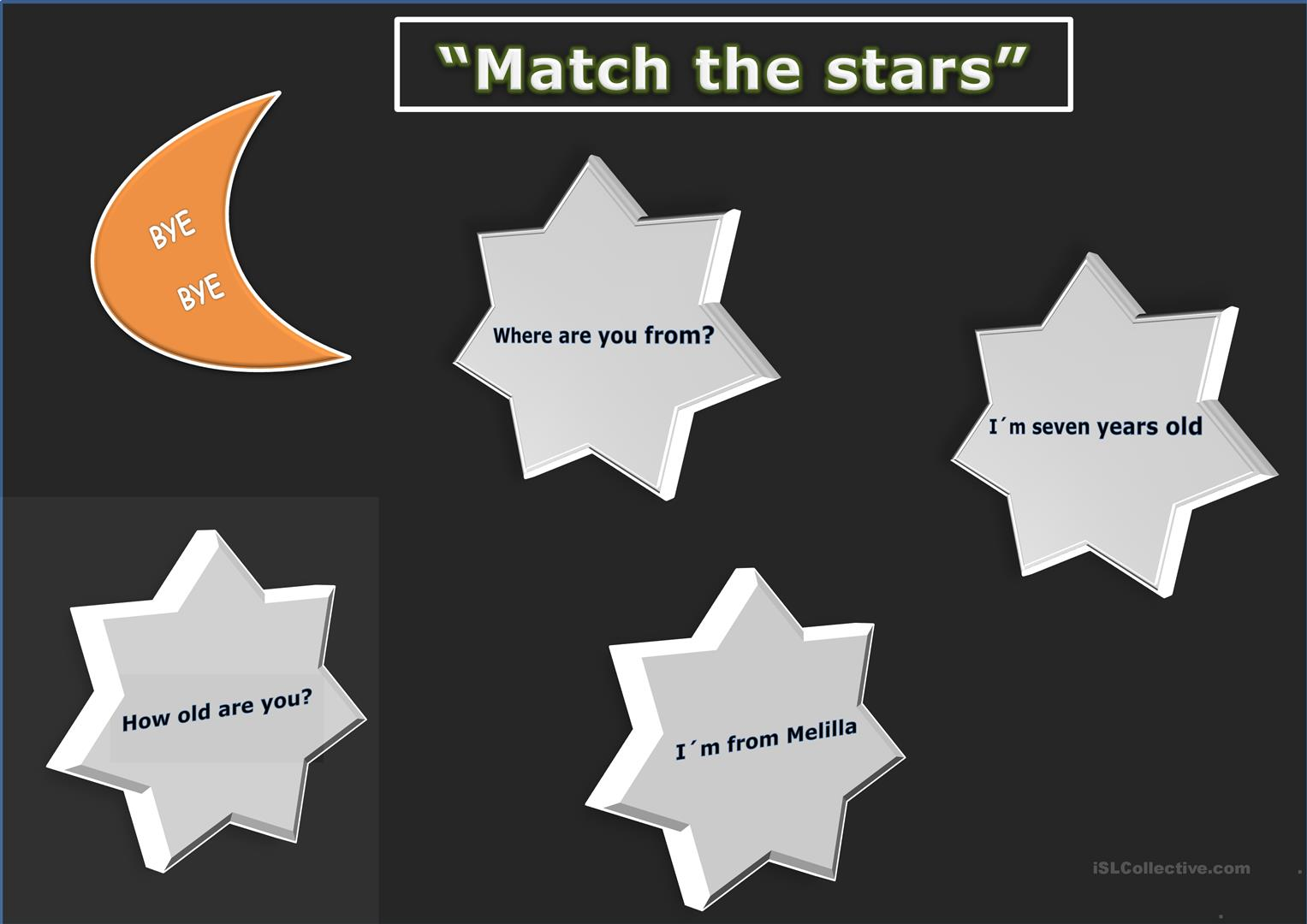 Match The Clouds And Stars Worksheet