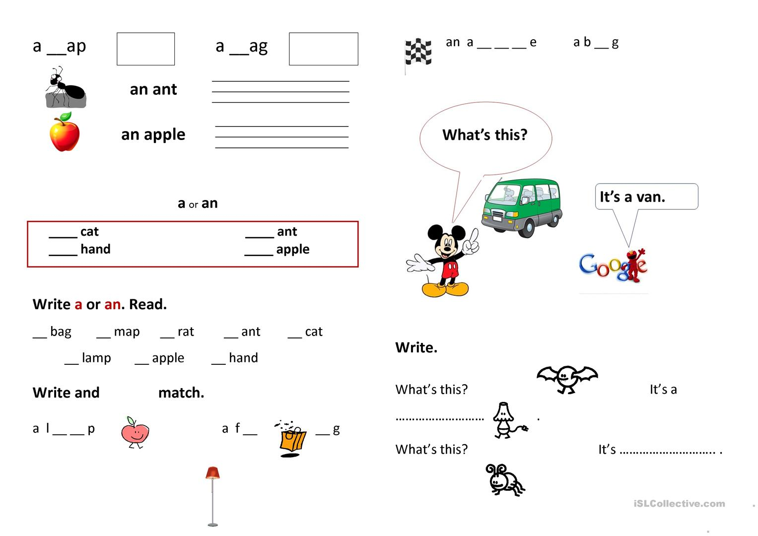 Writing The First Words Worksheet