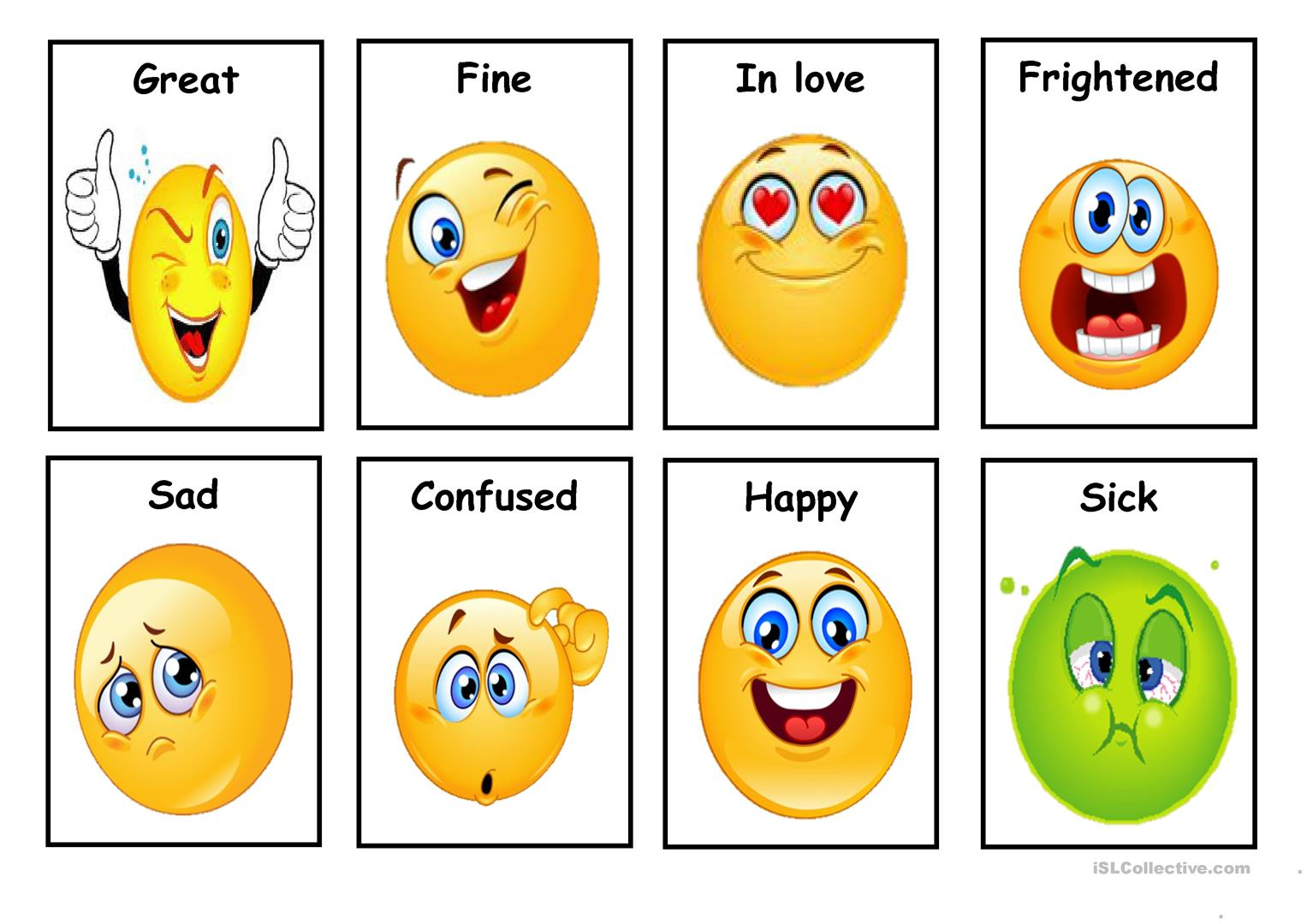 Emotions Faces Worksheet