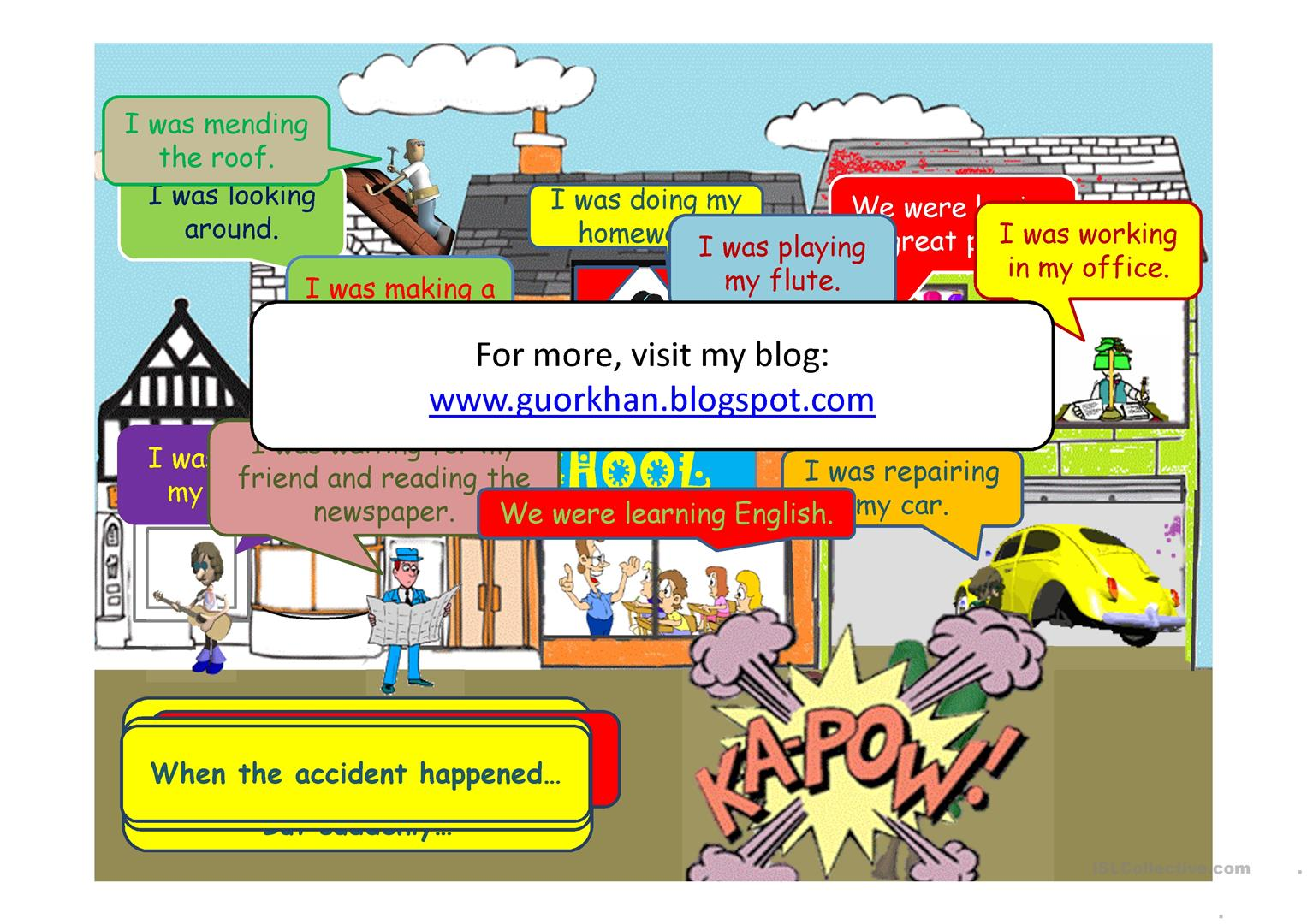 Past Continuous Tense Movie Like Animated