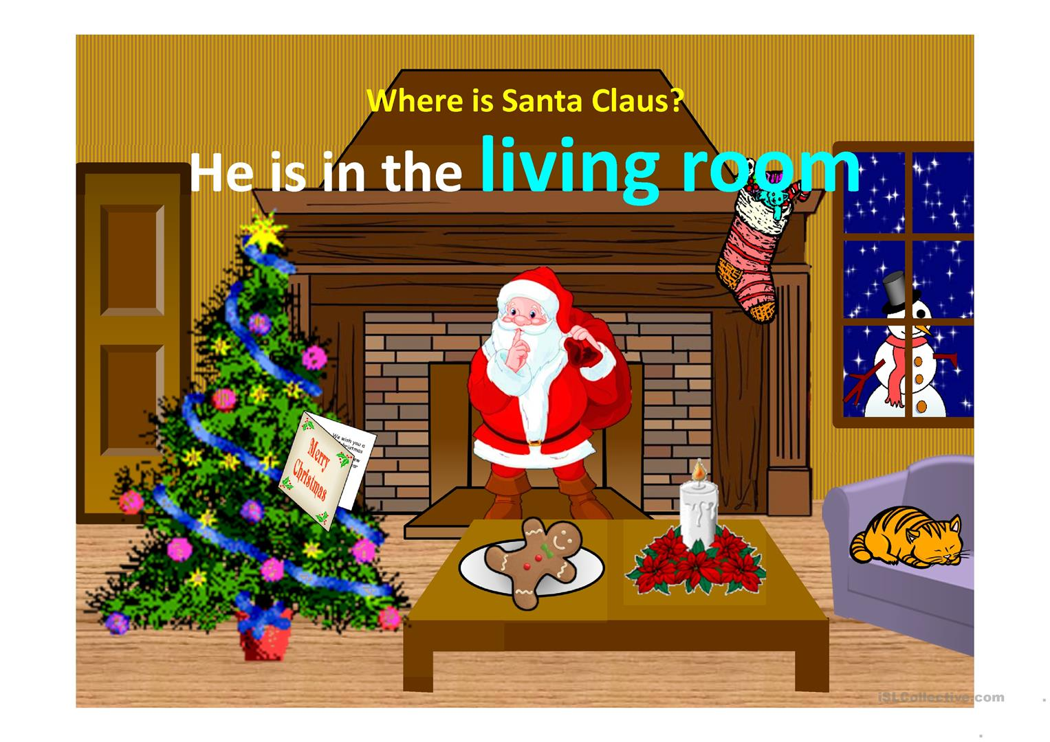 Where Is Santa Claus Worksheet