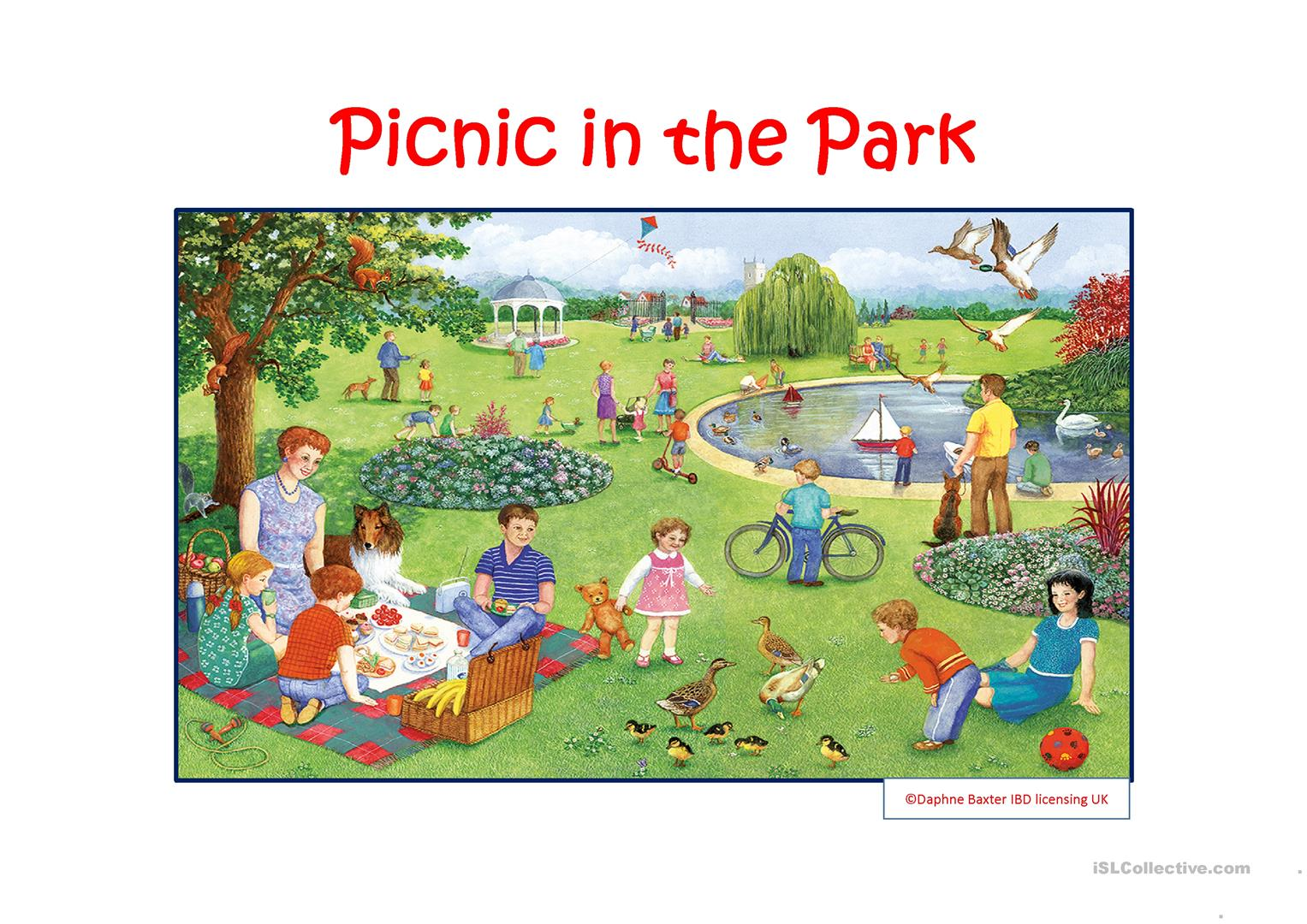 Picnic In The Park Worksheet