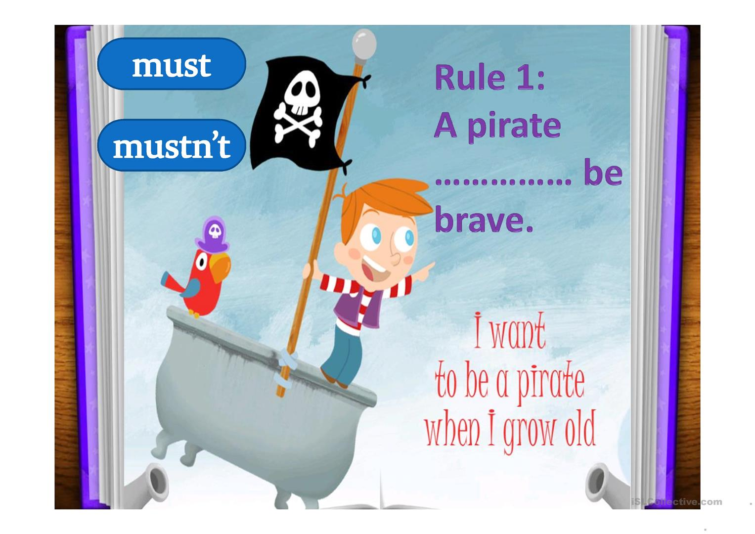 The Pirate Code Must Worksheet