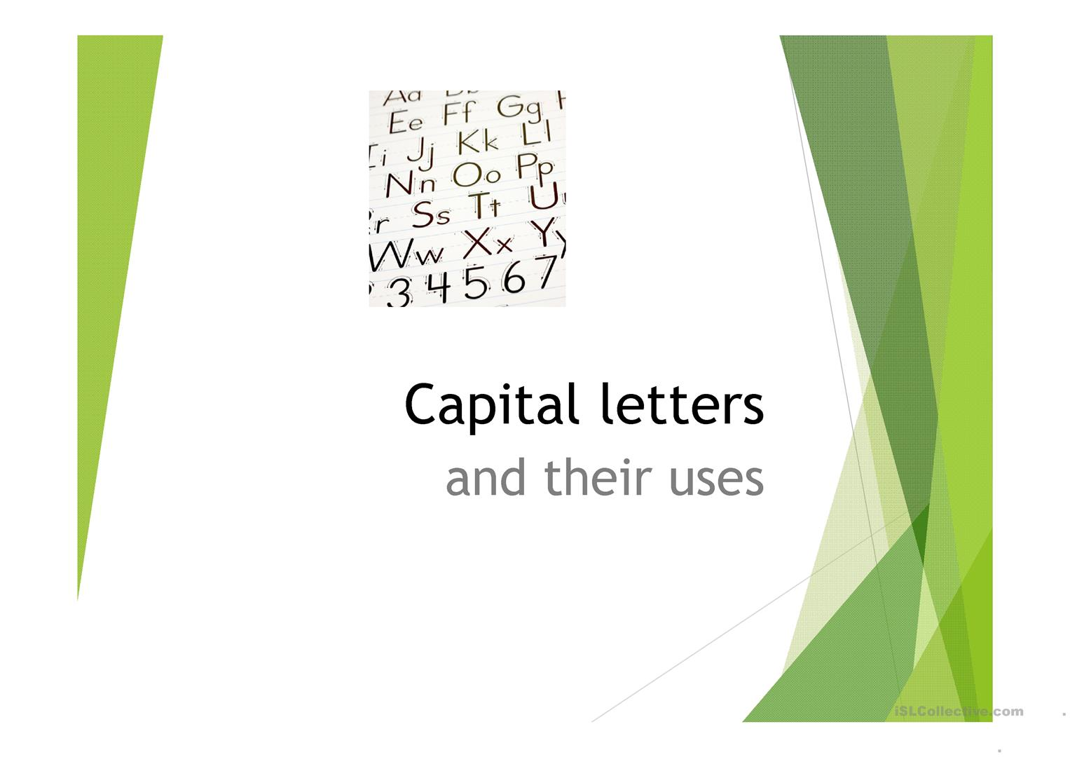 Full Stop And Capital Letters Worksheet