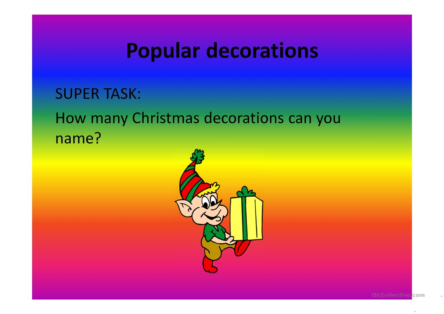 Christmas Presentation For Beginners Worksheet