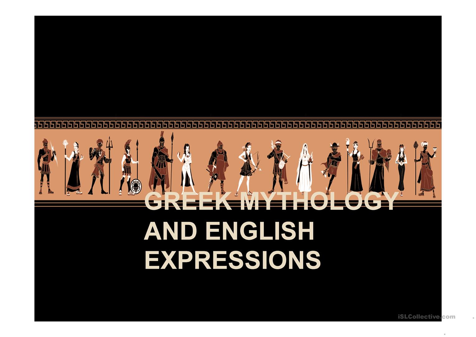 Greek Mythology And English Expressions Worksheet