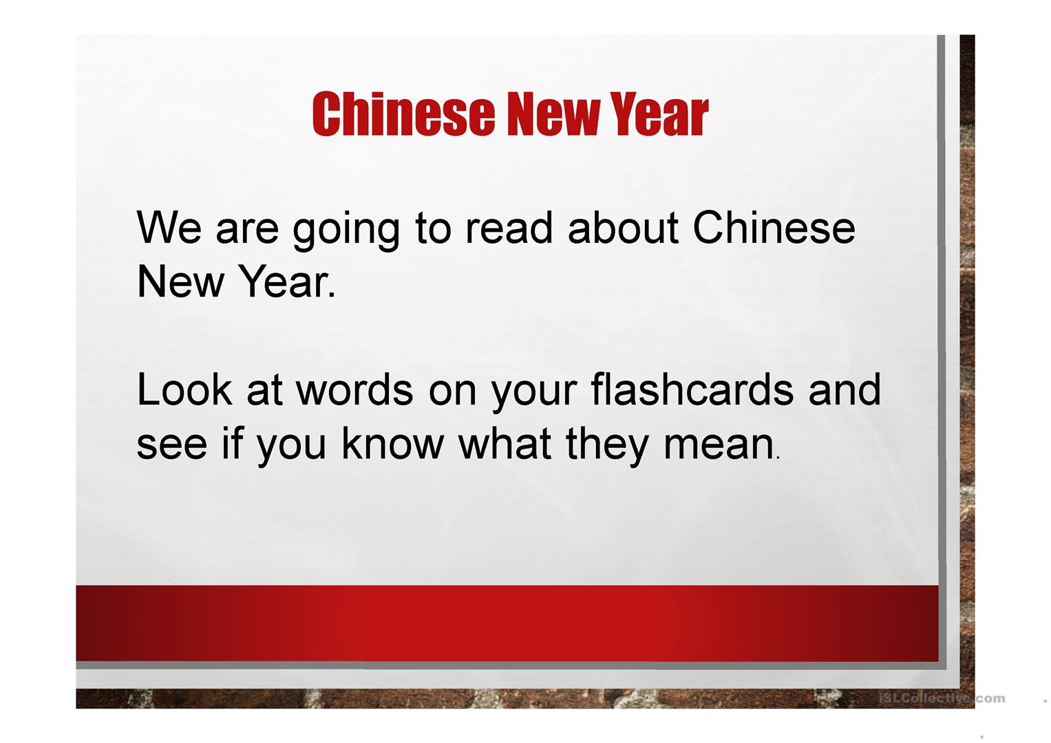 Chinese New Year Worksheet