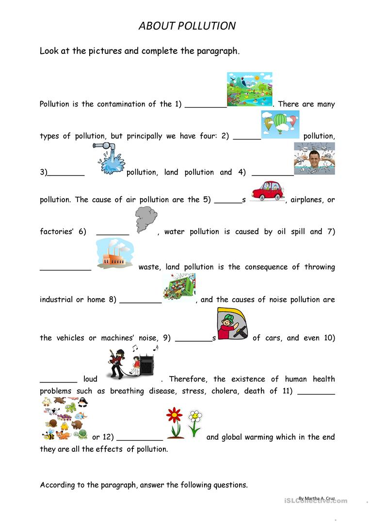 worksheet Pollution Worksheets pollution worksheets free library download and print worksheets