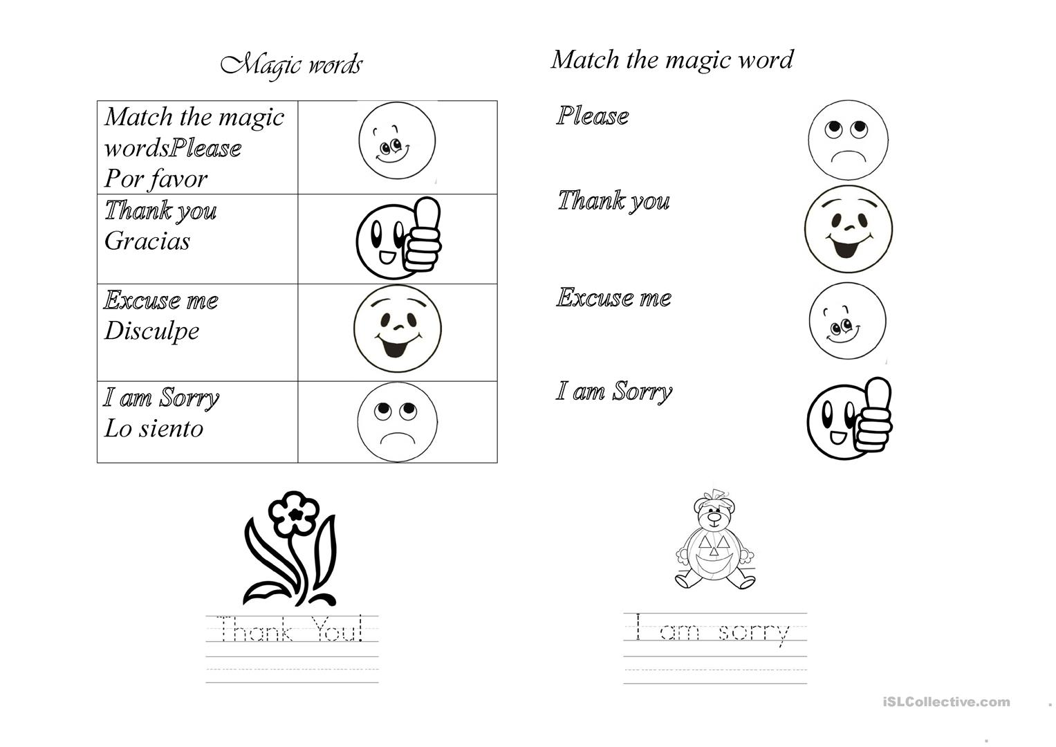 Polite Expression Worksheet