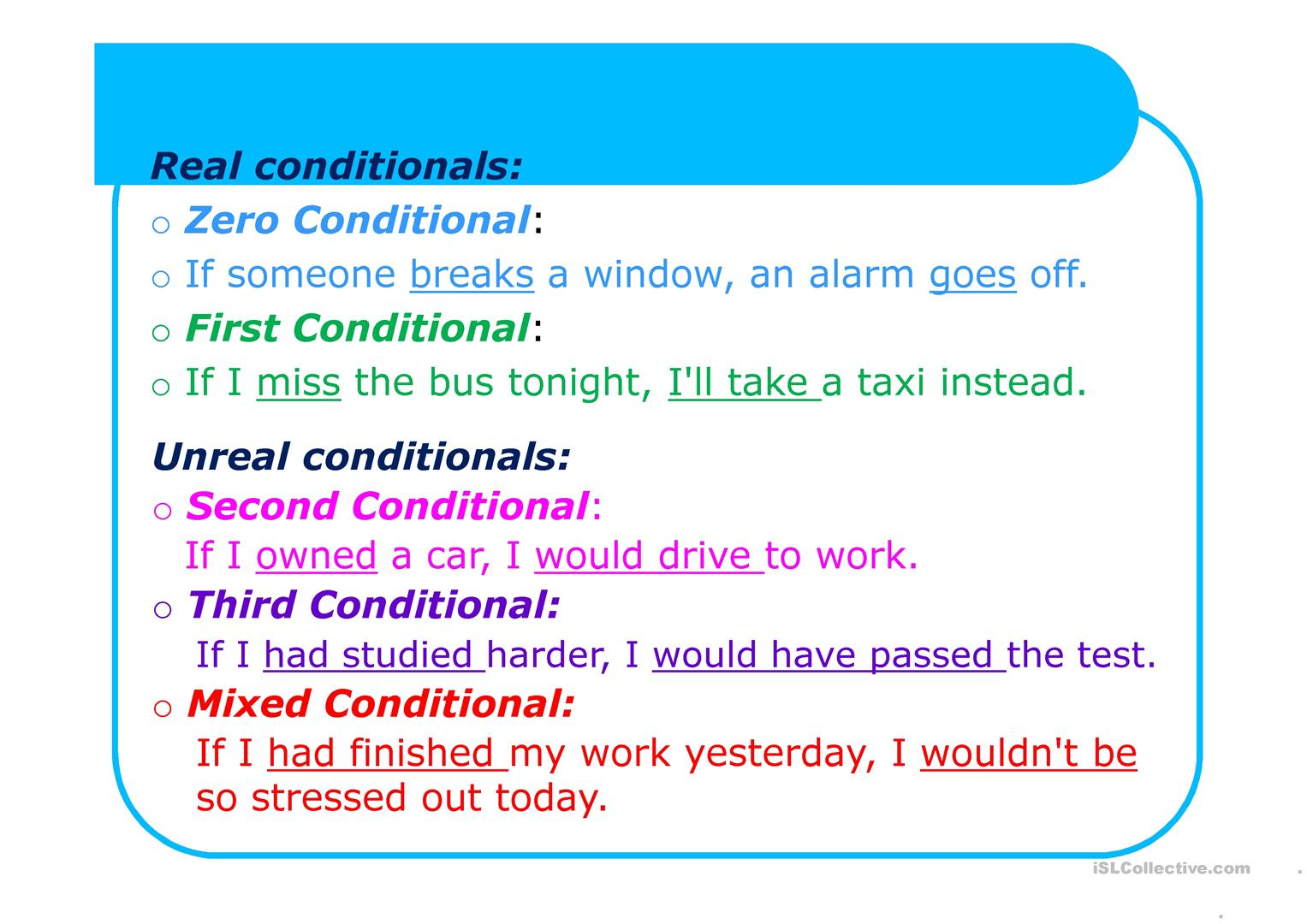 Conditional Sentences Pptx Worksheet