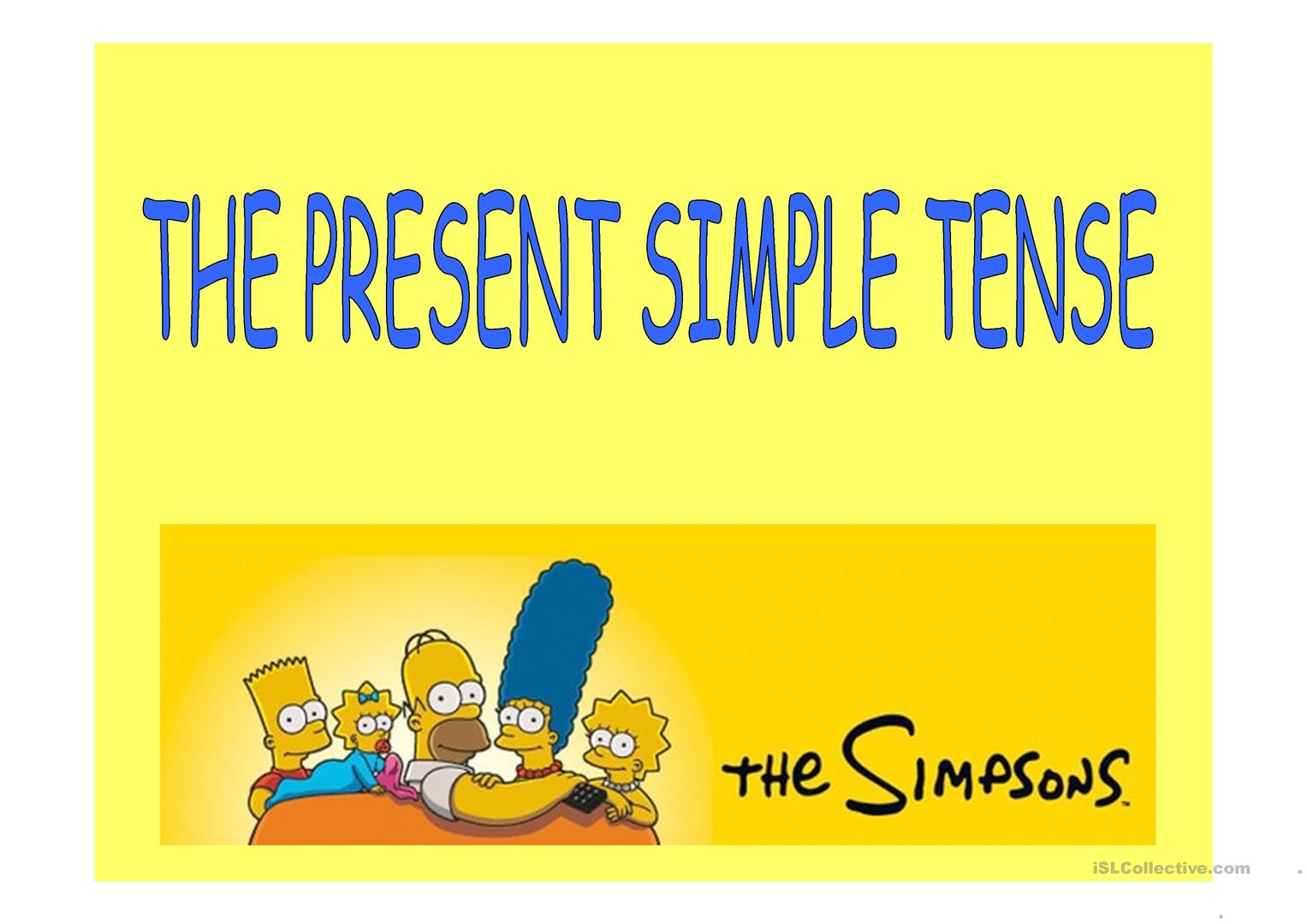 Present Simple With The Simpsons Elementary Worksheet
