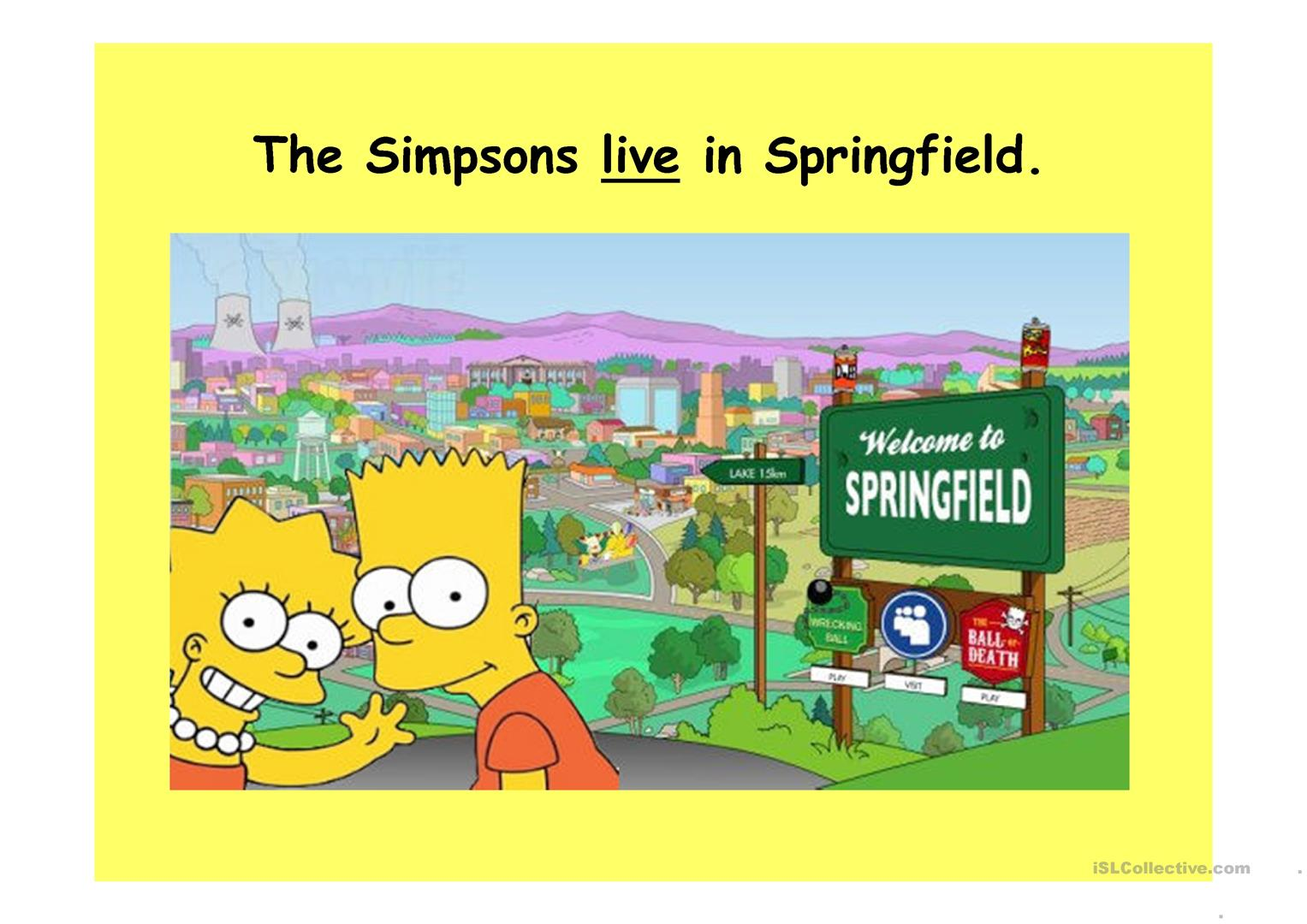 Present Simple With The Simpsons Elementary
