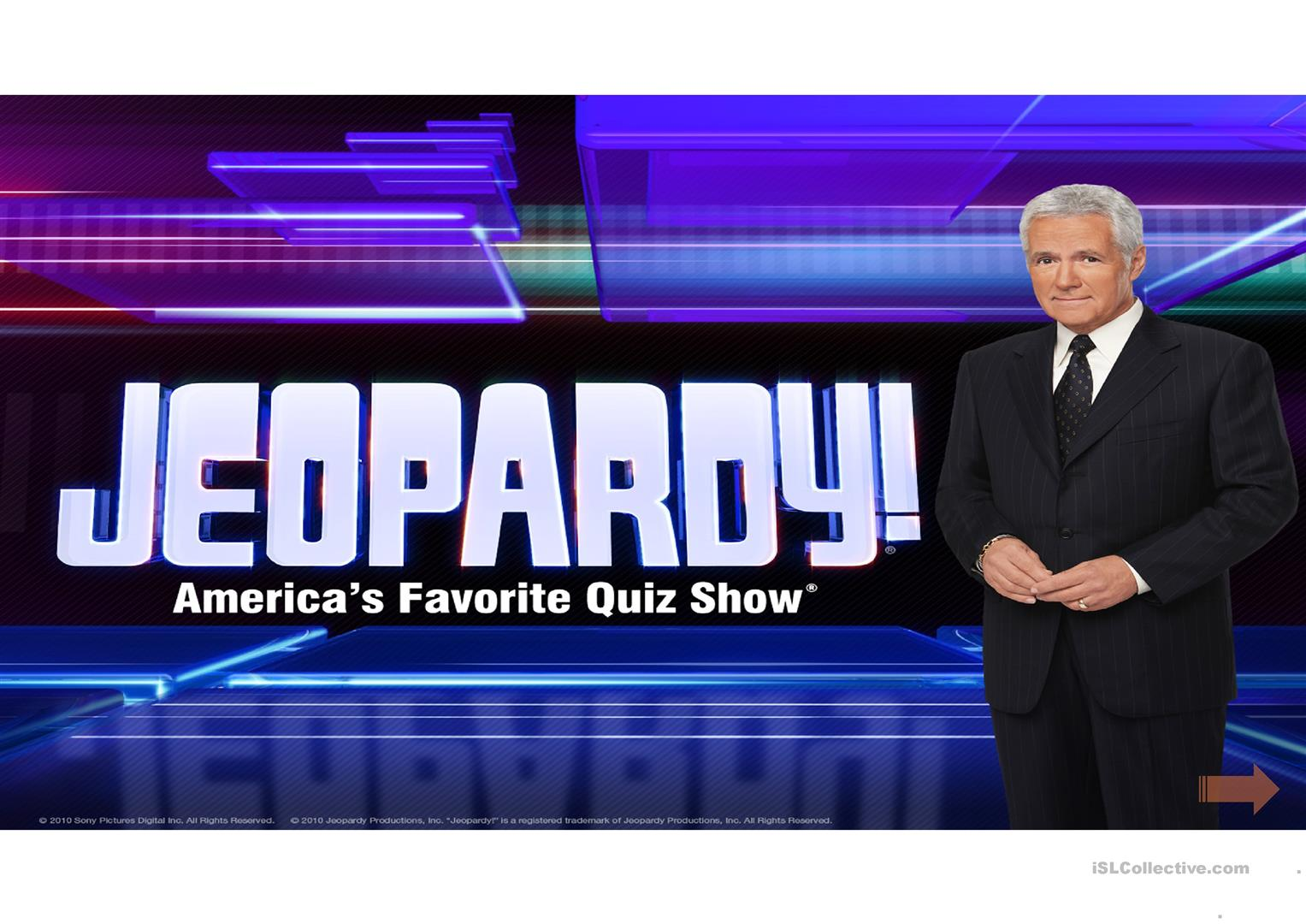 Jeopardy 2 Worksheet
