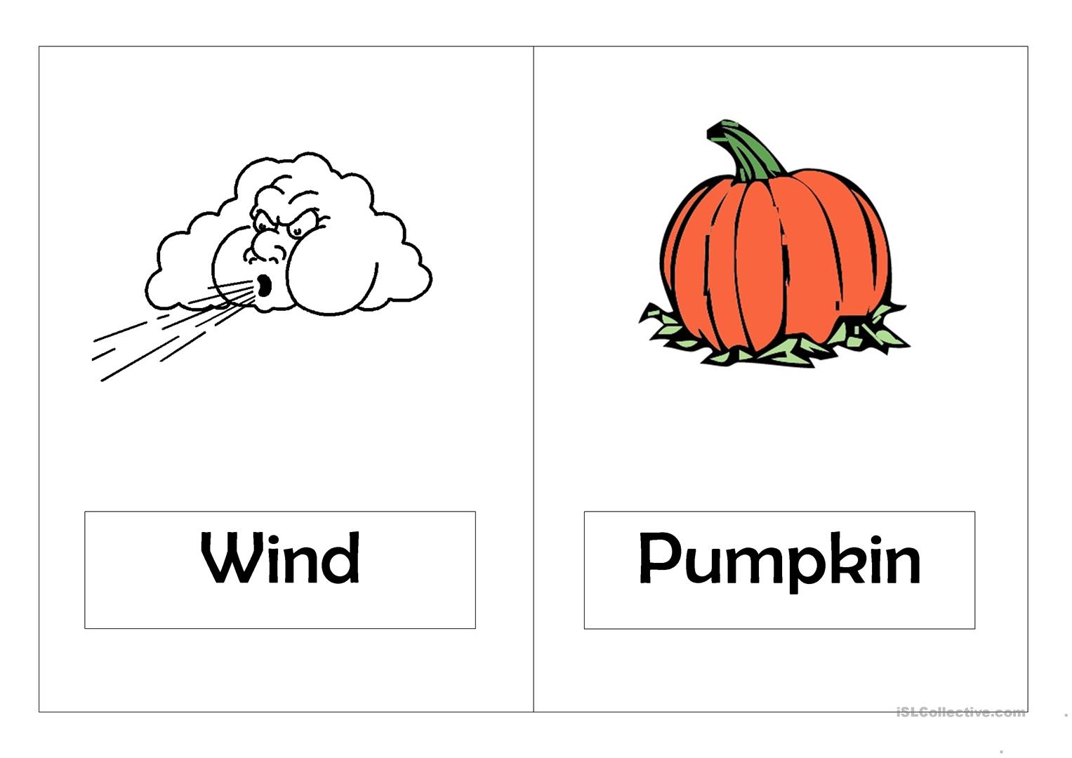Autumn Worksheet Esl