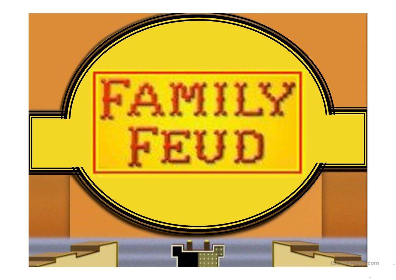 Family Feud Game Power Point Template Worksheet