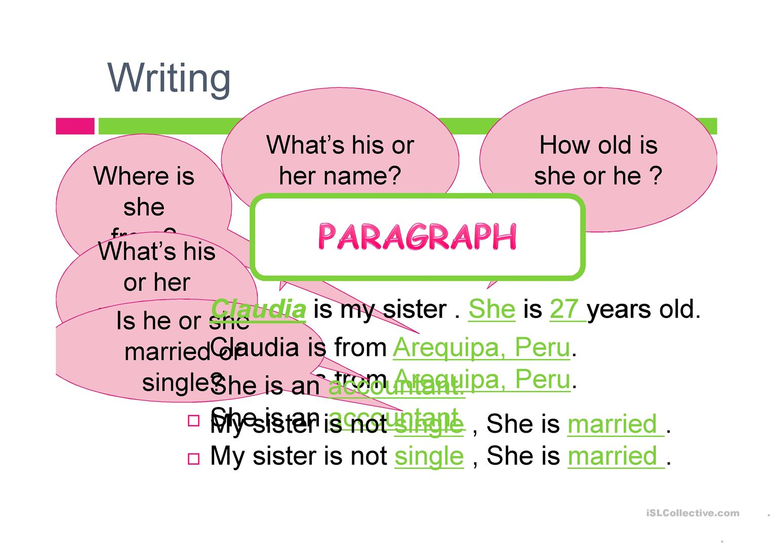 Example How To Write An Small Paragraph Personal
