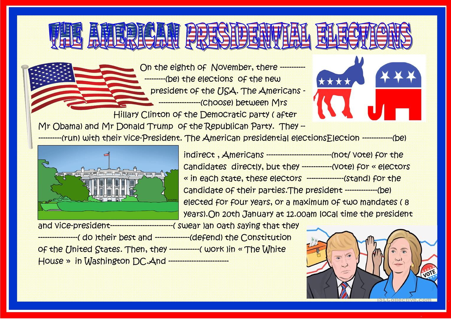 American Election Past Present Future Worksheet