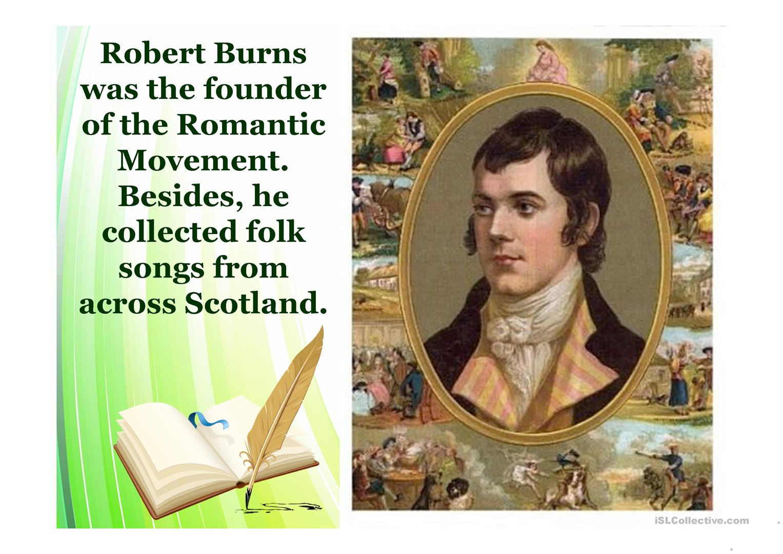 Robert Burns Worksheet