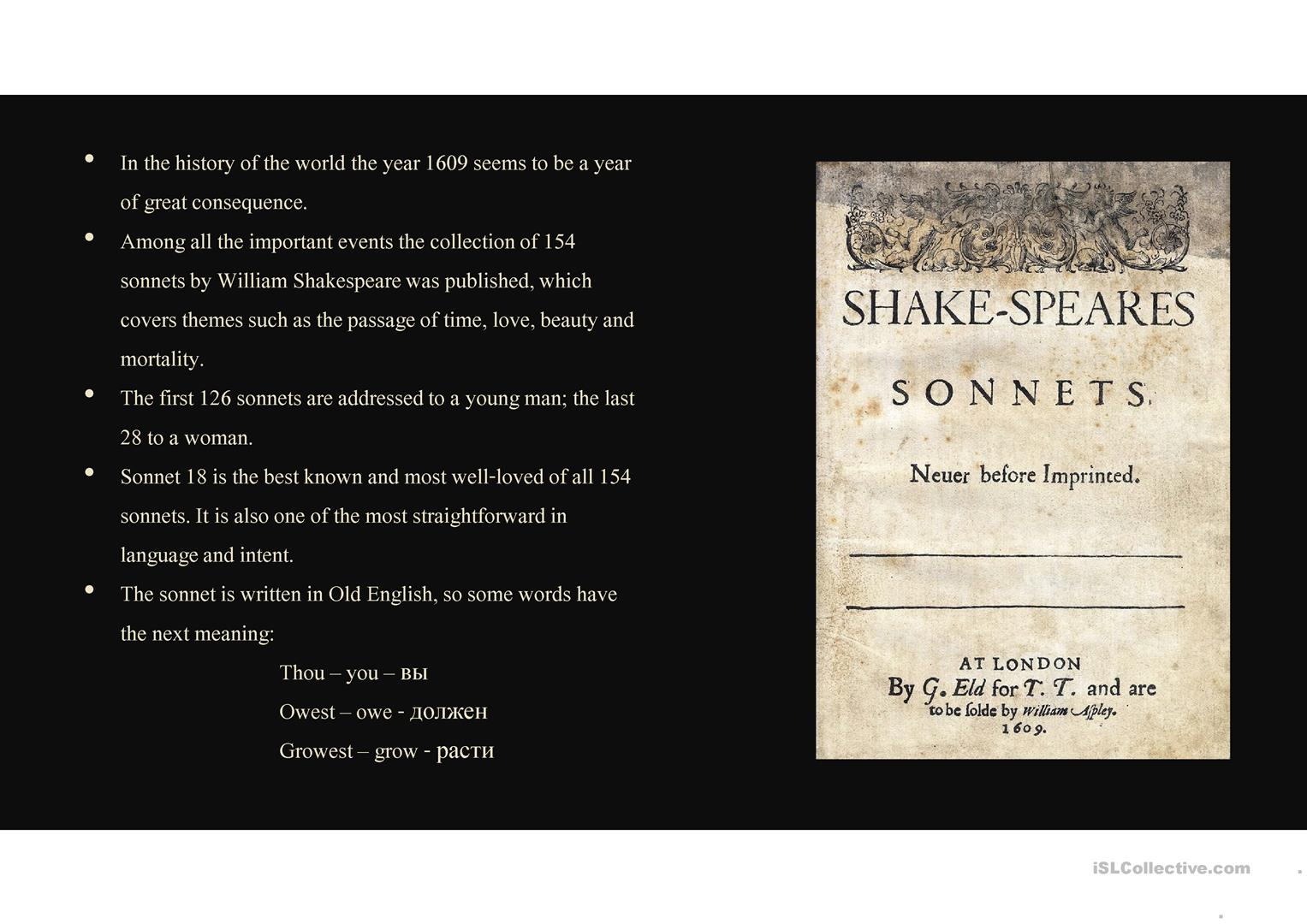 Sonnet 18 By William Shakespeare