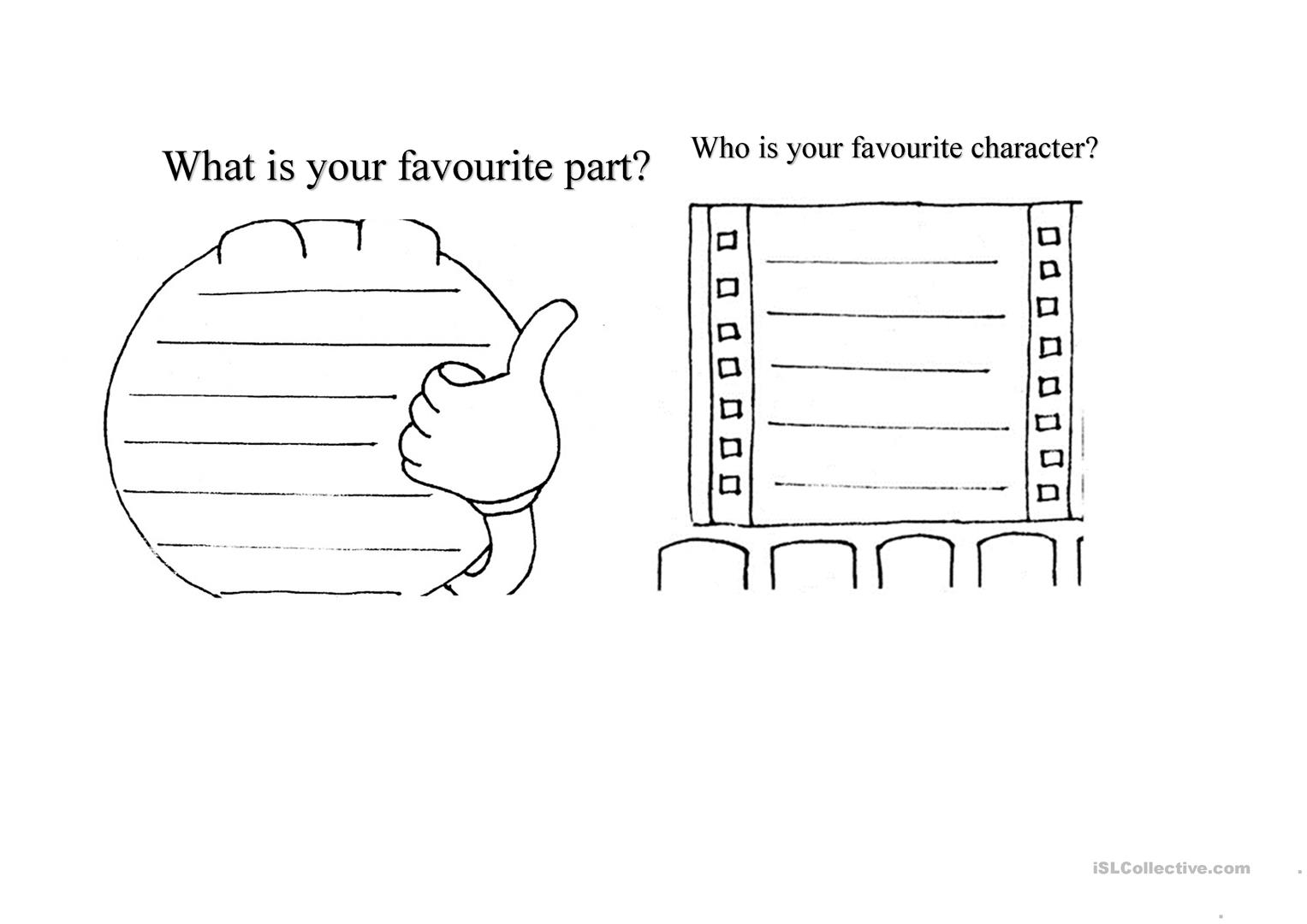 Favourite Character Worksheet