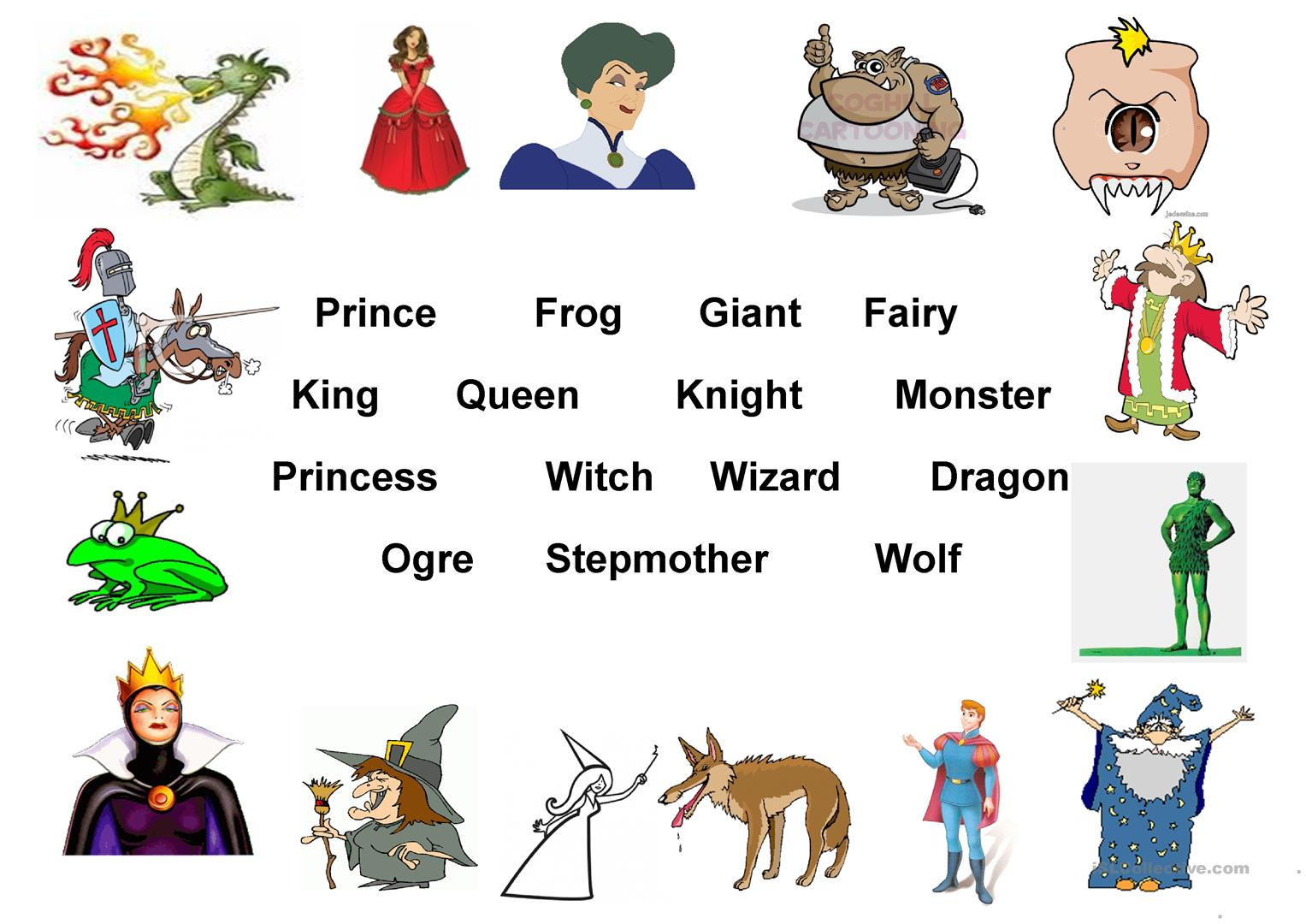 Fairy Tales Worksheet