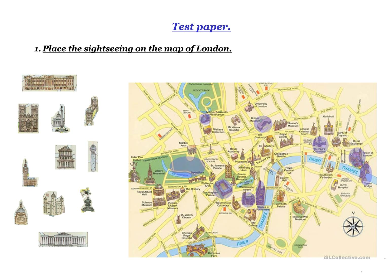 London Test Worksheet