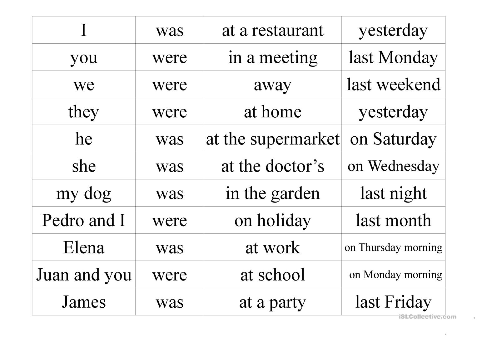 Printables Of Word Order Sentences Worksheets