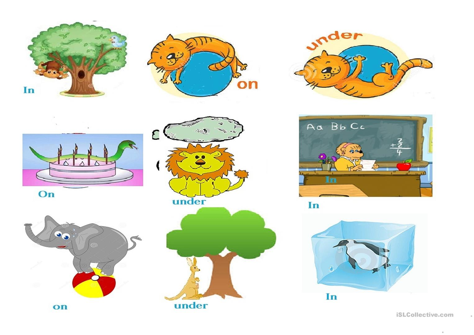 Preposition Worksheet Eyfs