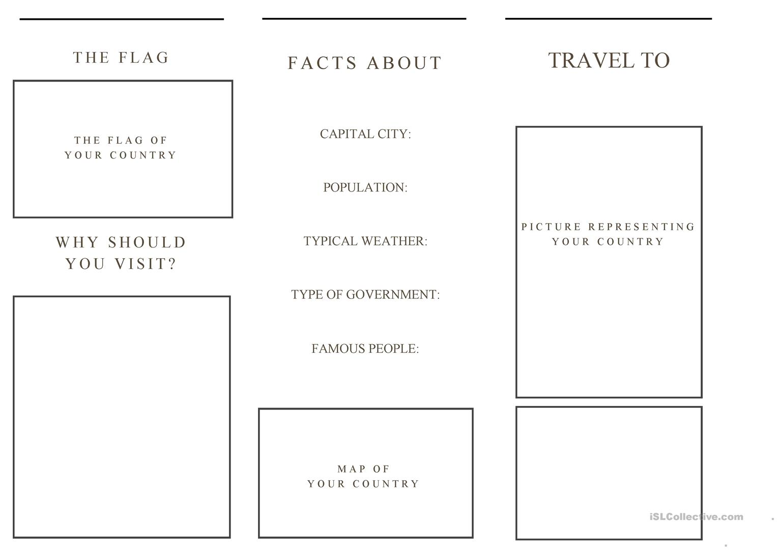 Travel Brochure Template And Example Brochure