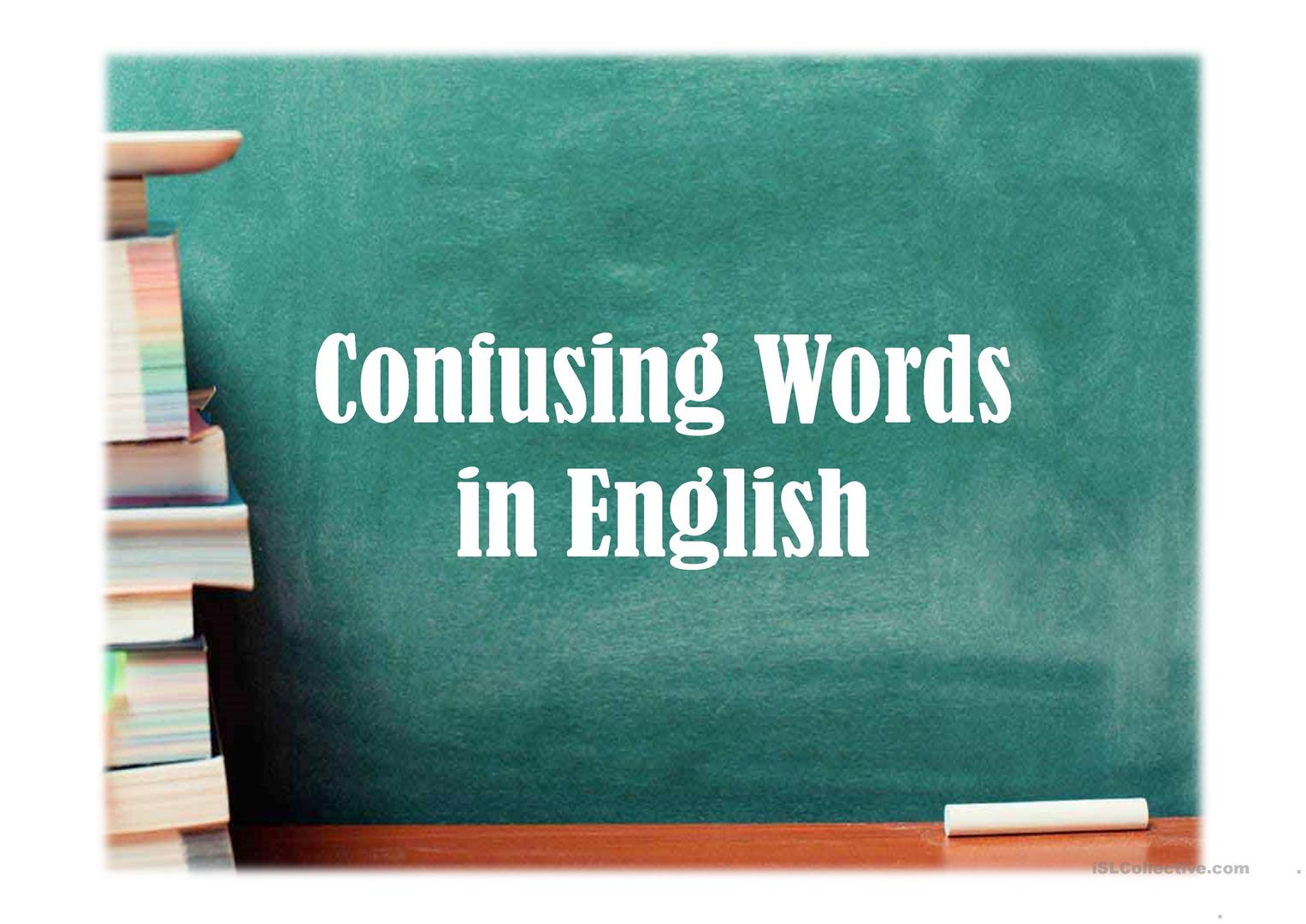 Confusing English Words Worksheet