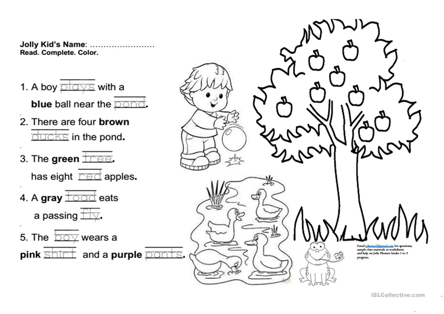 Jolly Phonics Ie Worksheet