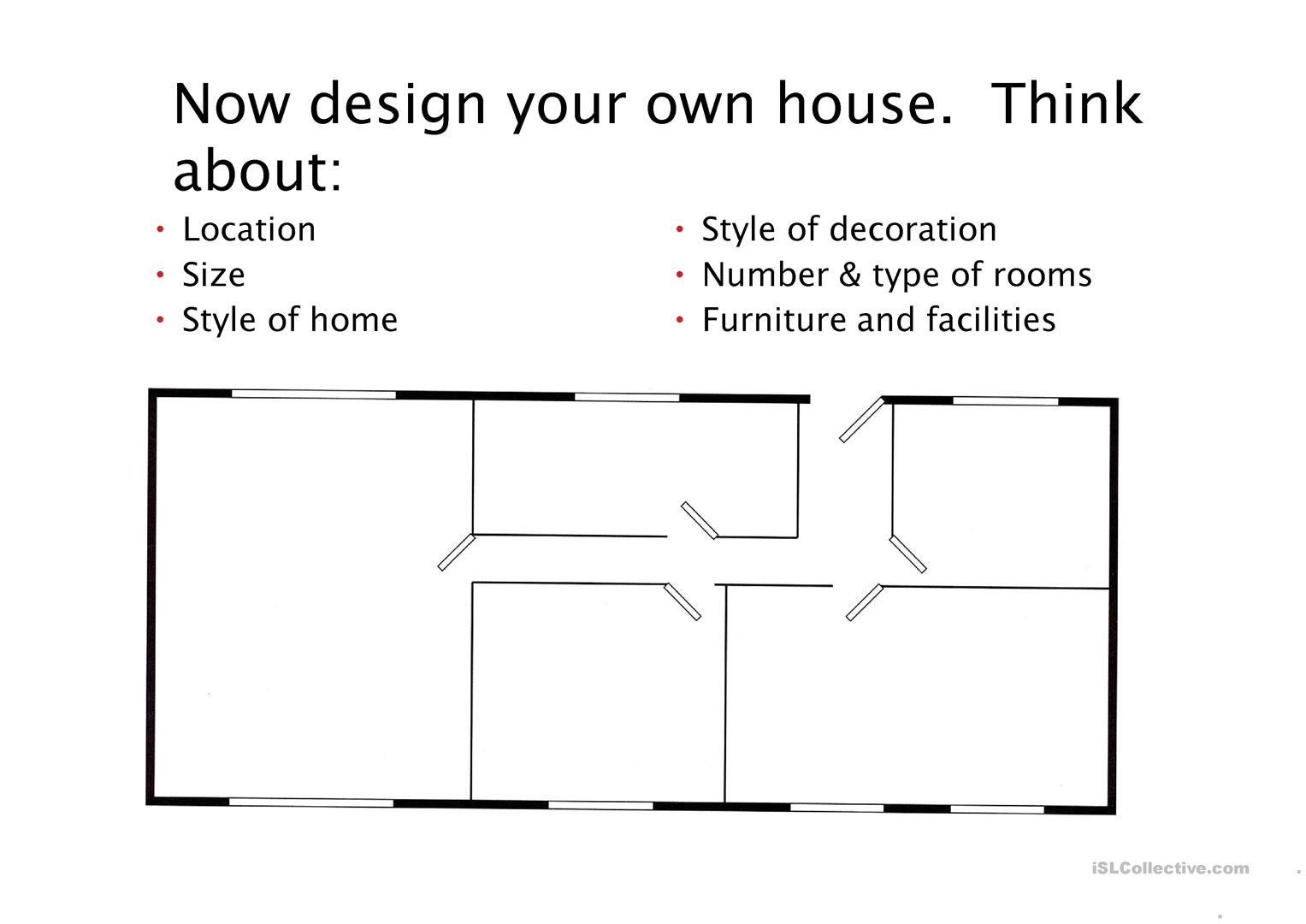 Design Your Dream Home Worksheet