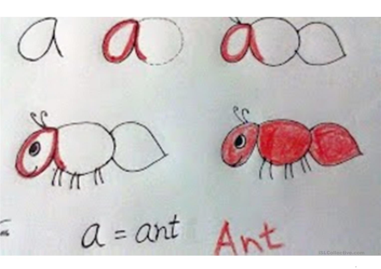 The Alphabet Drawing With The Letters