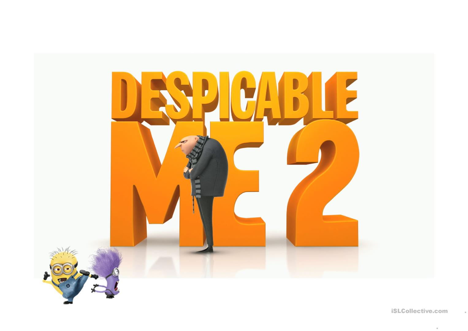 Despicable Me Powerpoint Game