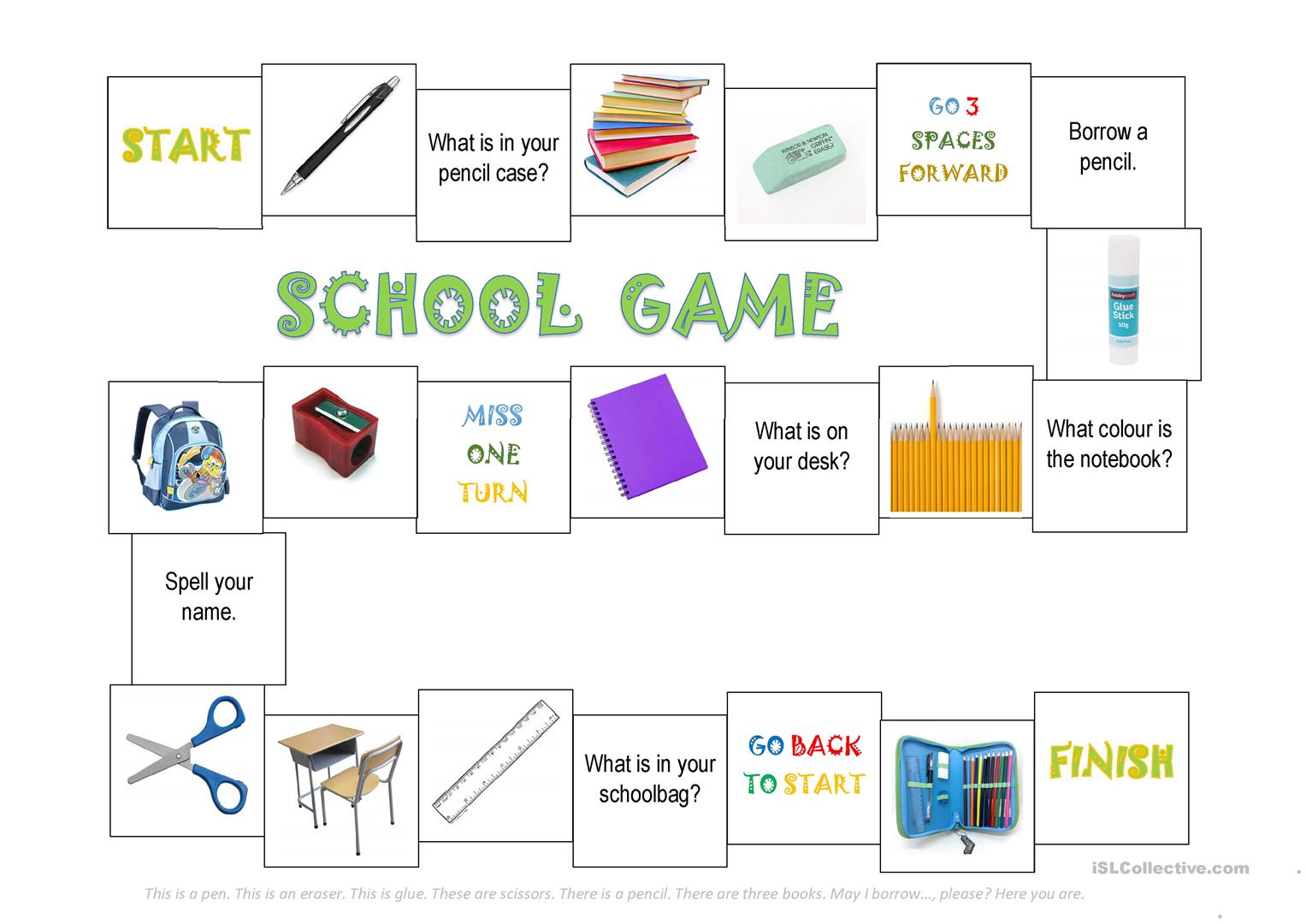 School Objects Game