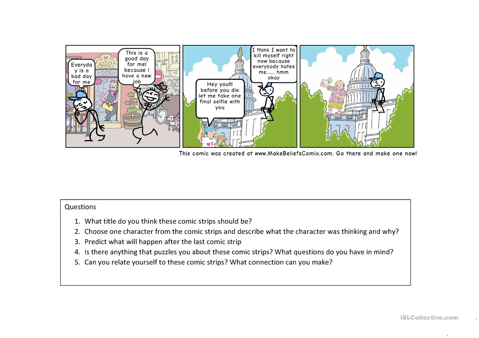 Comic Strips Reading Comprehension Hsk Part 1 2