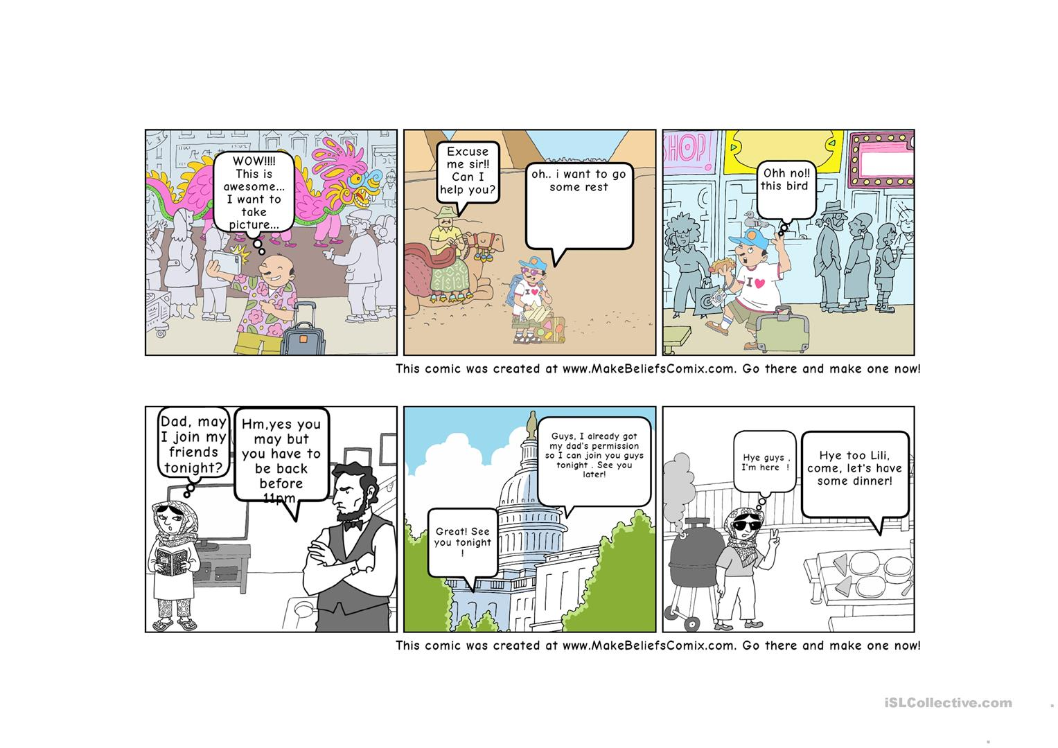 Comic Strips Reading Comprehension Jkk