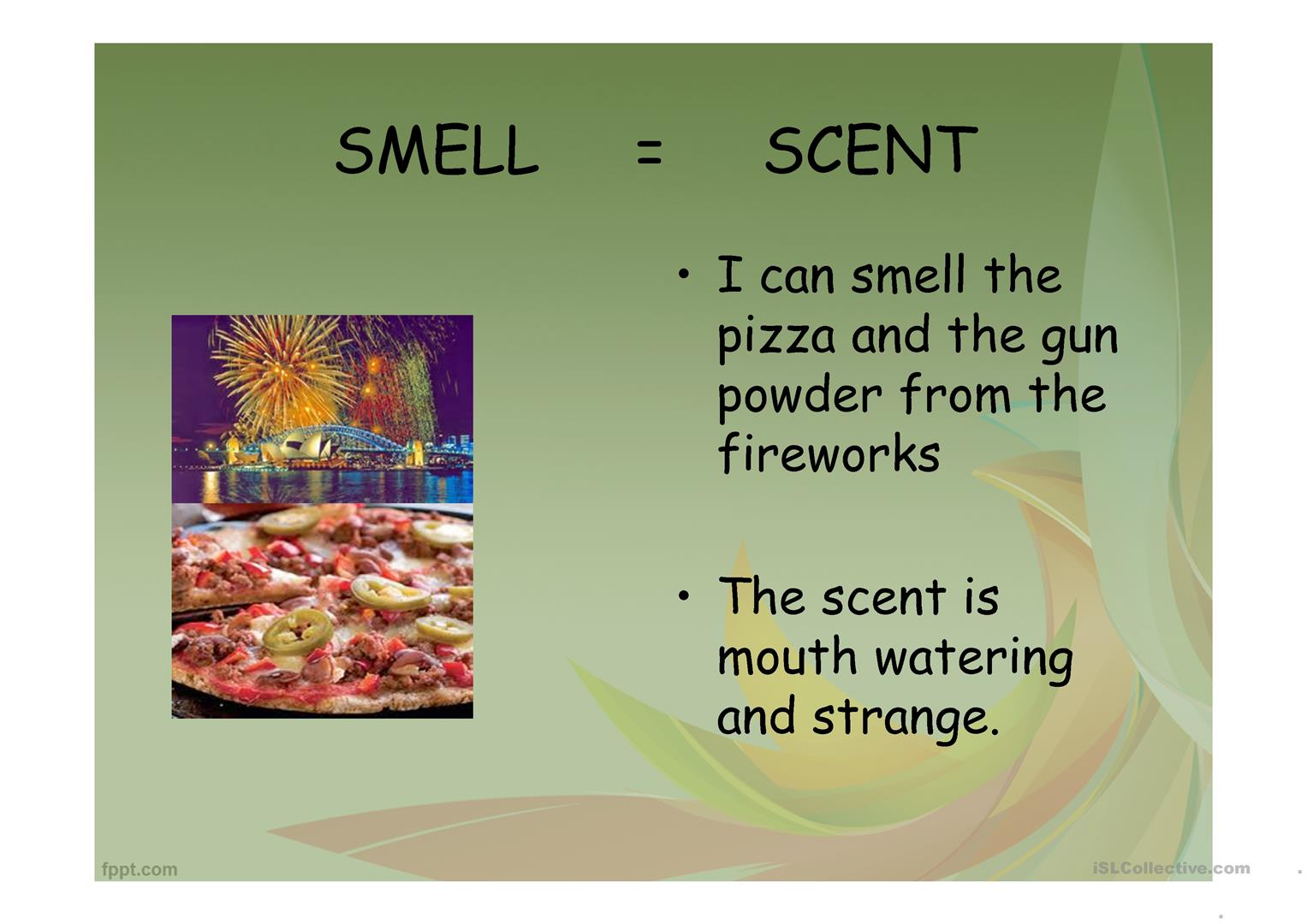 Writing With The 5 Senses Worksheet