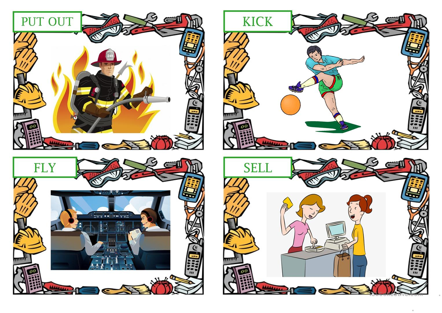 Professions Actions Flashcards