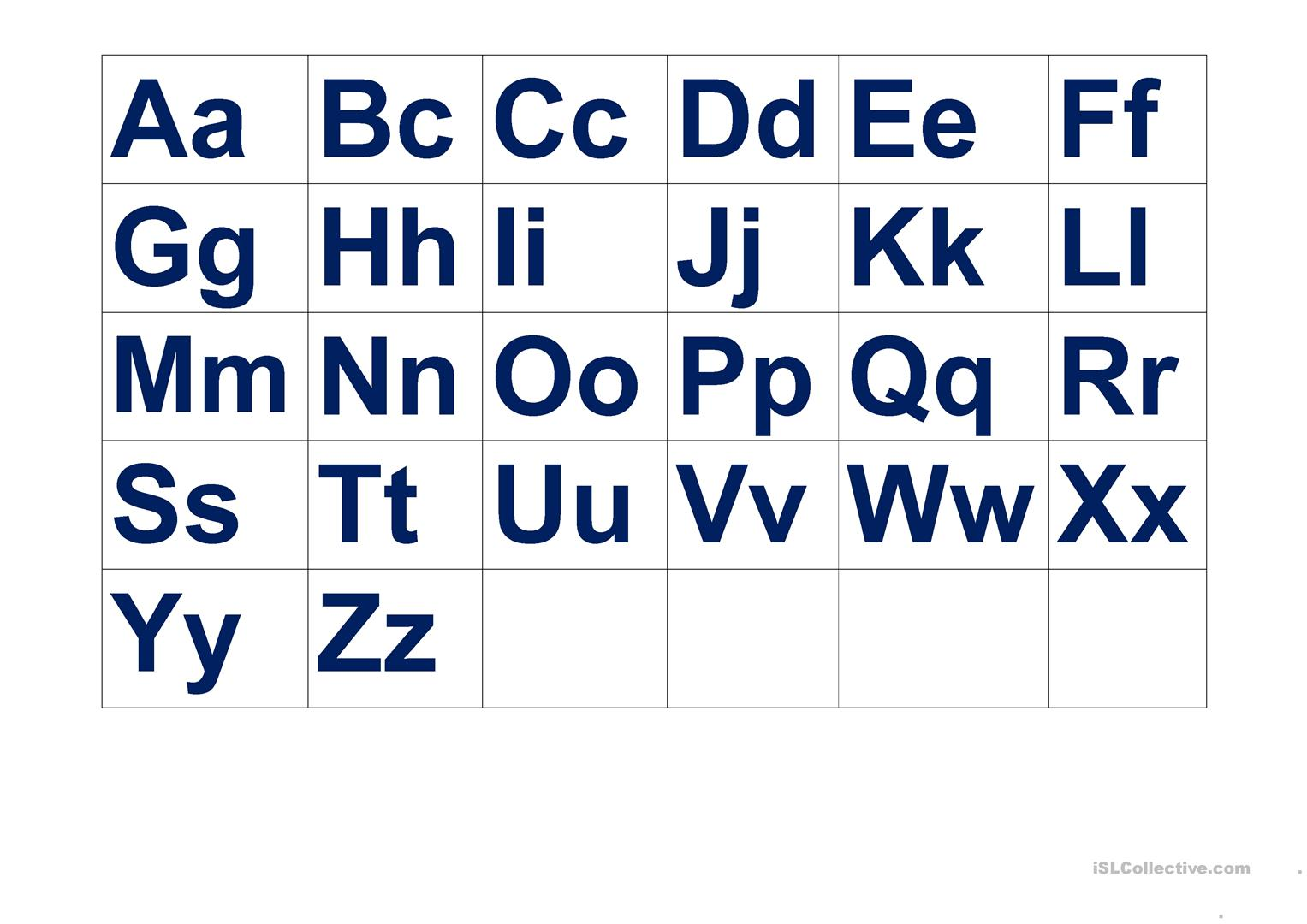Aa Alphabet Mini Flashcards For Class Interaction