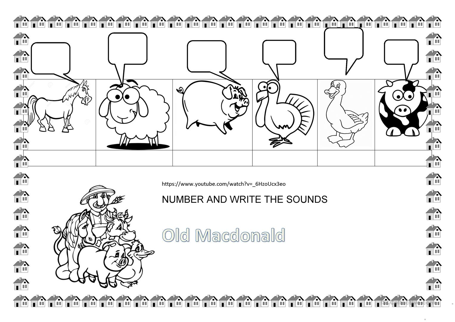 Old Macdonald Farm Animals